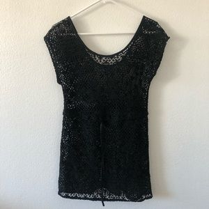 HM Black Crochet Bikini Cover Up Dress XS